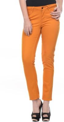 Mayra Skinny Fit Women's Orange Trousers