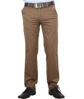 F FASHIONSTYLUS Regular Fit Men's Cream Trousers