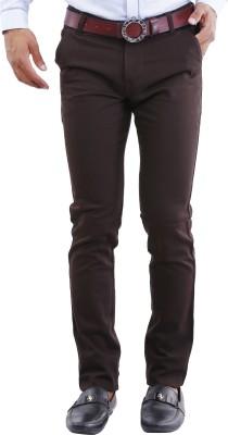 Crocks Club Regular Fit Men's Brown Trousers