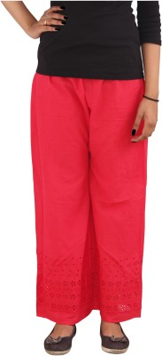 Xarans Regular Fit Women's Red Trousers
