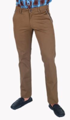 Awack Slim Fit Men's Brown Trousers