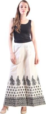 Libas Regular Fit Women's Cream Trousers at flipkart