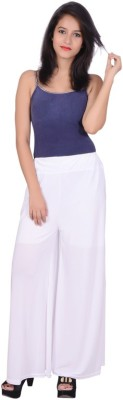 capy Regular Fit Women's White Trousers