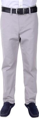 FRANK JEFFERSON Regular Fit Men's Grey Trousers