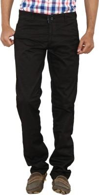 Carbon Slim Fit Men's Brown Trousers