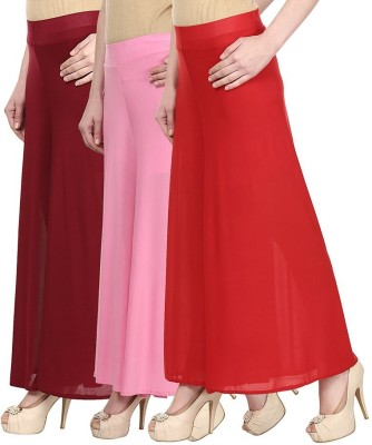IKL Regular Fit Women's Pink, Blue, White Trousers