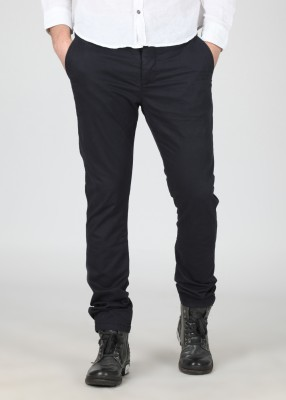 Breakbounce Skinny Fit Men's Dark Blue Trousers