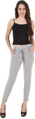 Mojeska Slim Fit Women,s White Trousers