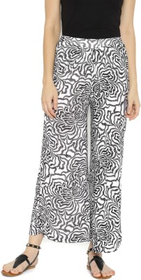Anouk Regular Fit Women's White, Black Trousers at flipkart