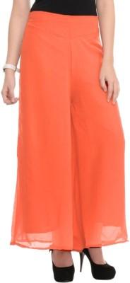 La Verite Regular Fit Women's Orange Trousers