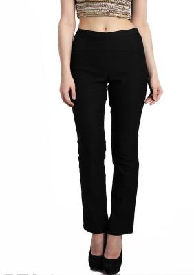 Divaat Regular Fit Women's Black Trousers