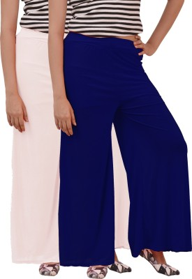 Ace Regular Fit Women's White, Blue Trousers