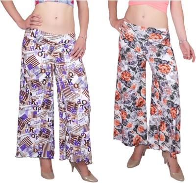 DAMEN MODE Regular Fit Women's Multicolor, Multicolor Trousers
