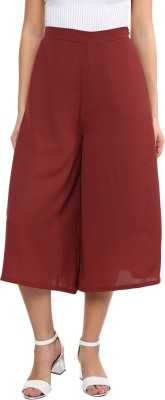 Miss Chase Regular Fit Women's Brown Trousers at flipkart