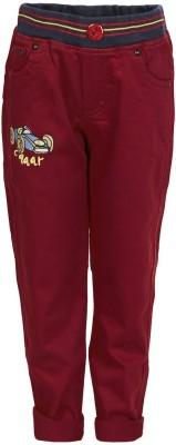 benext Regular Fit Boy's Maroon Trousers