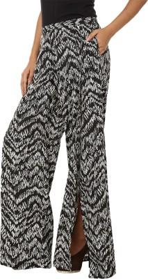 Lambency Regular Fit Women's Black, White Trousers