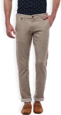 Vintage Slim Fit Men's Gold Trousers