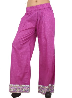 Pujarika Regular Fit Women's Pink Trousers