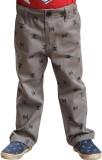Snowflakes Regular Fit Boys Grey Trouser...