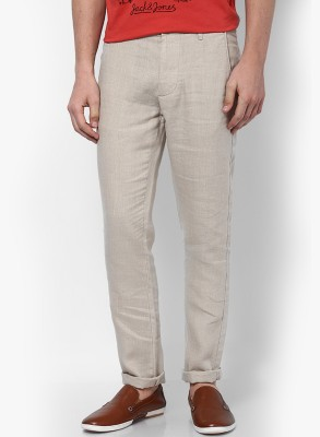 Jack & Jones Slim Fit Men's White Trousers
