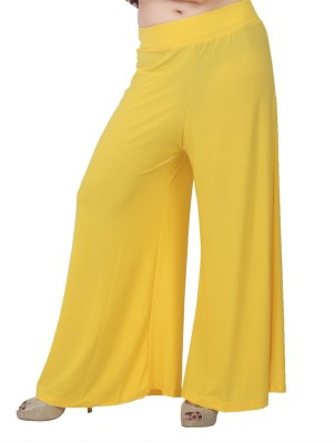 Bottoms More Slim Fit Women's Yellow Trousers