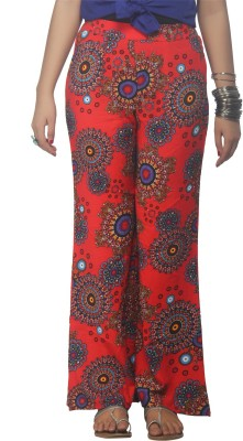 Dhavani Regular Fit Women's Red Trousers