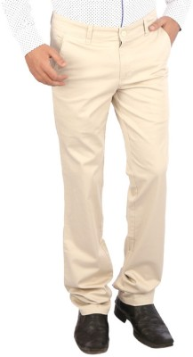 Appollo Slim Fit Men's Cream Trousers