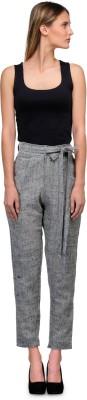 Yolo Designs Slim Fit Women's Grey, Black Trousers