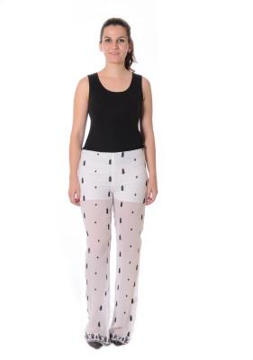 Urban Religion Regular Fit Women's White, Black Trousers