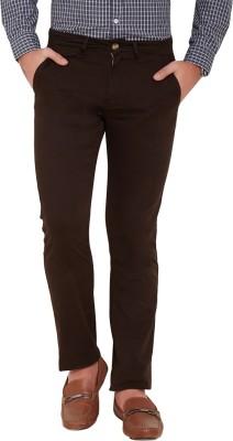 Slub By INMARK Regular Fit Men's Brown Trousers