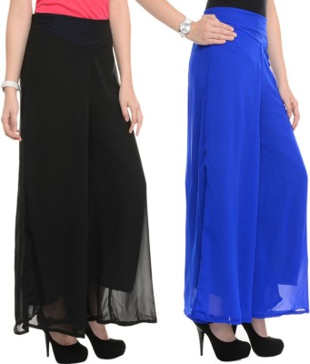Dimpy Garments Slim Fit Women's Black, Blue Trousers