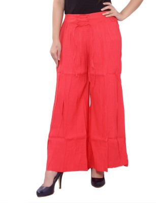 A&K Regular Fit Women's Red Trousers
