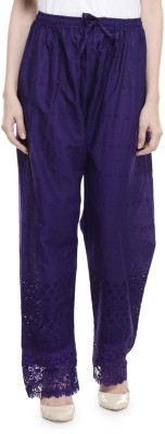 Stay Blessed Regular Fit Women's Purple Trousers