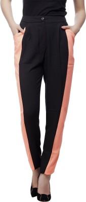 Ottomode Slim Fit Women's Black Trousers