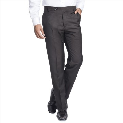 Adam In Style Regular Fit Men's Brown Trousers
