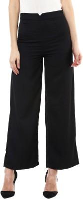Sassafras Regular Fit Women's Black Trousers at flipkart
