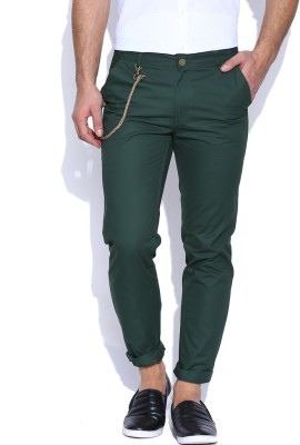 Hubberholme Slim Fit Men's Green Trousers