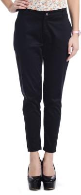 Akshiti Slim Fit Women's Black Trousers