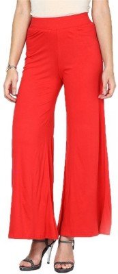 Meow Regular Fit Women's Red Trousers