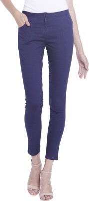 Globus Regular Fit Women's Dark Blue Trousers