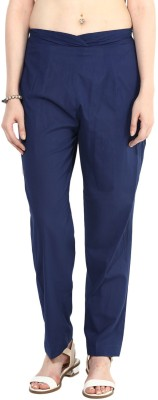 Indibox Regular Fit Women's Blue Trousers at flipkart