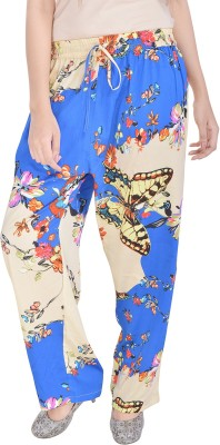Soundarya Slim Fit Womens Beige, Blue Trousers