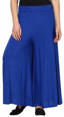 BanTiw Regular Fit Women's Blue Trousers