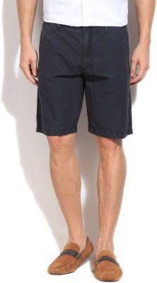 Kenneth Cole Reaction Solid Men's Grey Basic Shorts