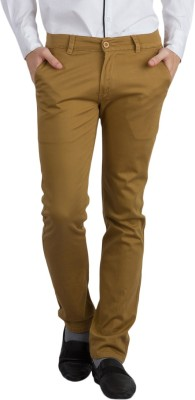 Bloos Jeans Slim Fit Men's Gold, Yellow Trousers