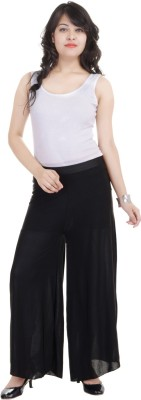 SANA FAB Regular Fit Women's Black Trousers