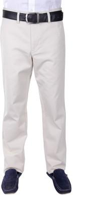 FRANK JEFFERSON Regular Fit Men's Beige Trousers