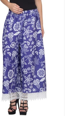 Famous by Payal Kapoor Regular Fit Women's Blue, White Trousers