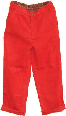 My Little Lambs Regular Fit Baby Boys Red Trousers