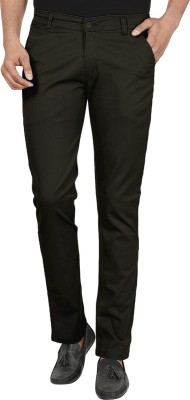 Own Voice Regular Fit Men's Brown Trousers